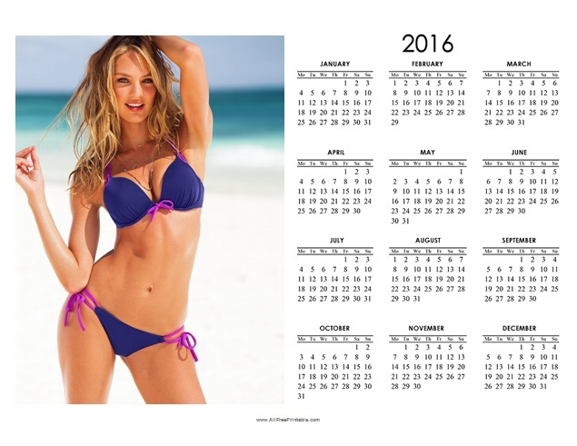 Free Printable 2016 Photo Calendar Template