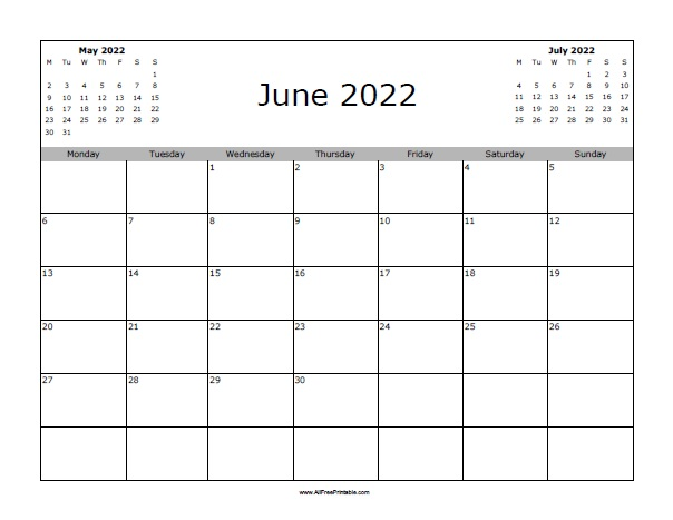 image about Free Printable June Calendar named June 2022 Calendar - Absolutely free Printable -