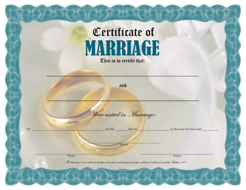 picture about Free Printable Marriage Certificate titled Certification of Relationship - Free of charge Printable -
