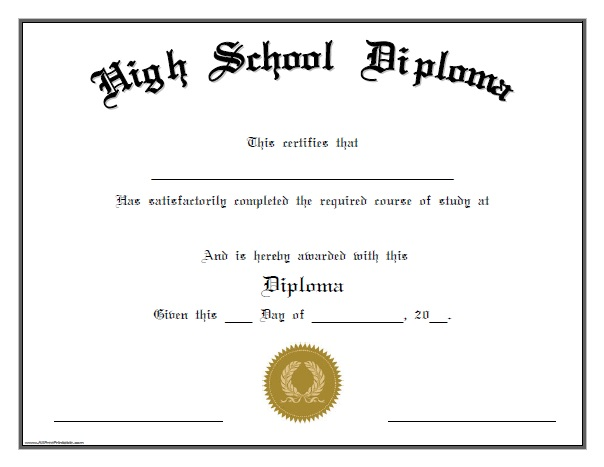 Effortless image intended for printable high school diplomas