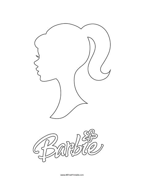 Free Printable Barbie Head Outline Pattern