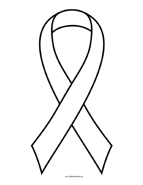 Free Printable Breast Cancer Ribbon Coloring Page