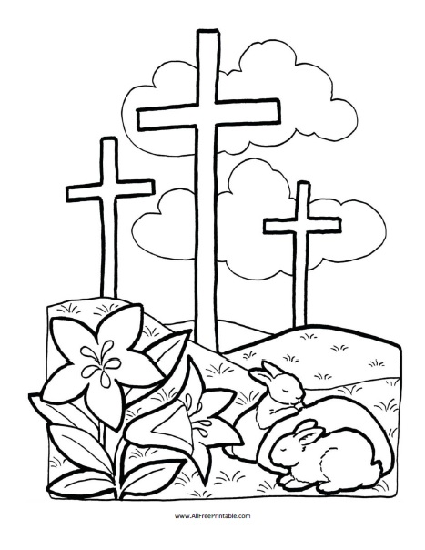 Easter Bible Coloring Page AllFreePrintable.com