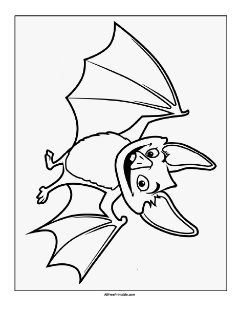 Free Printable Halloween Bat Coloring Page