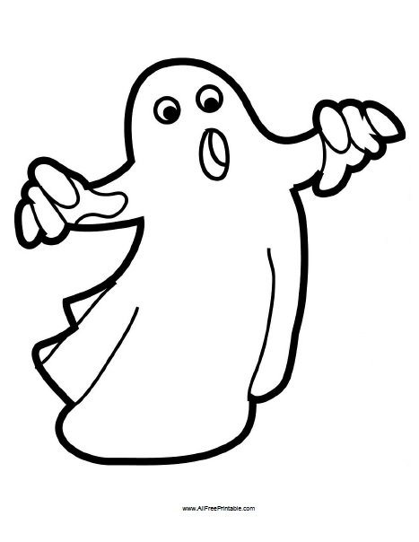Free Printable Halloween Ghost Coloring Page