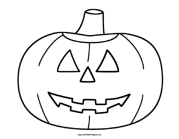 Halloween Pumpkin Coloring Page AllFreePrintable.com