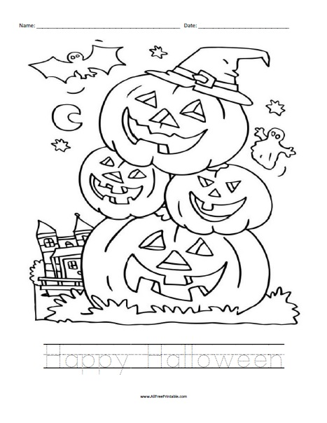 Free Printable Halloween Worksheet
