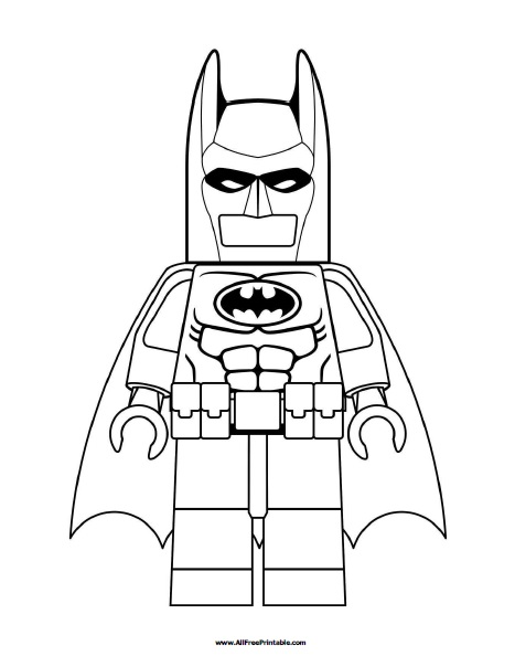 Free Printable Lego Batman Coloring Page