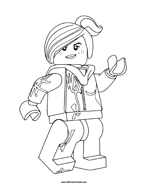 Free Printable Lego Lucy Coloring Page