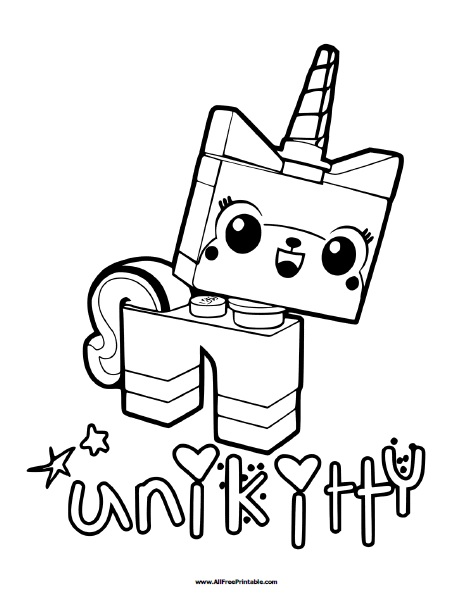 Free Printable Lego Unikitty Coloring Page