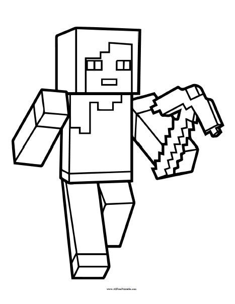 Free Printable Minecraft Coloring Page