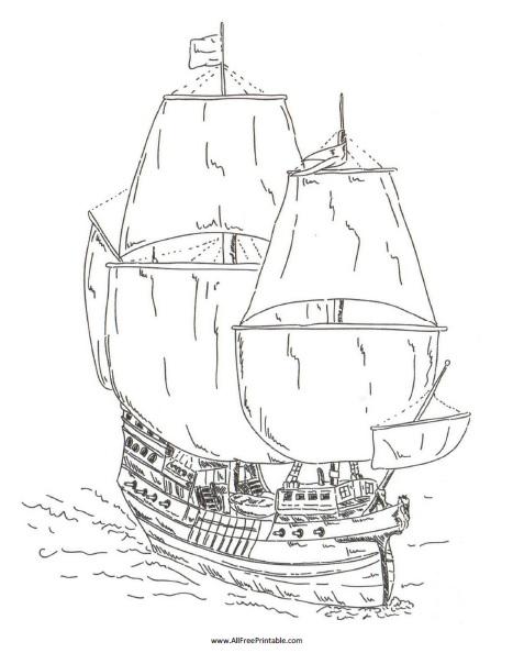 Free Printable Pirate Ship Coloring Page