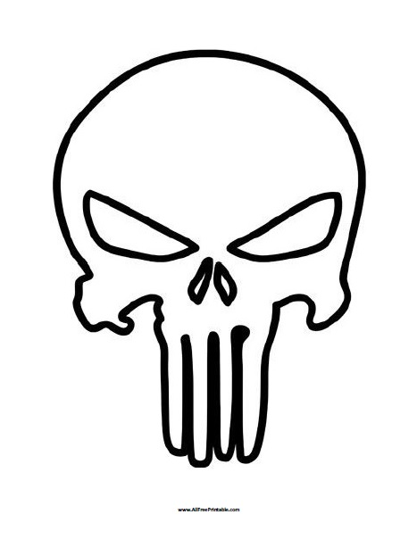 - Punisher Skull Coloring Page - Free Printable - AllFreePrintable.com