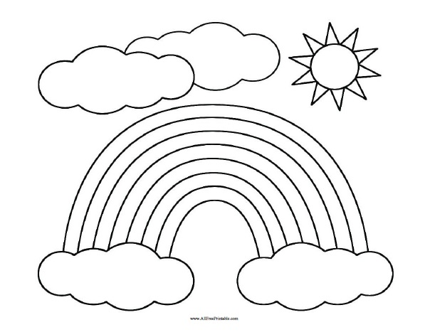 photograph regarding Free Printable Rainbow known as Rainbow Coloring Web page - No cost Printable -