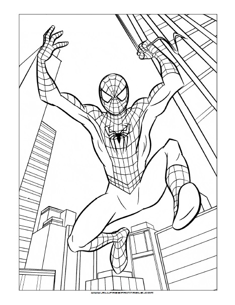Free Printable Spider-Man Coloring Page
