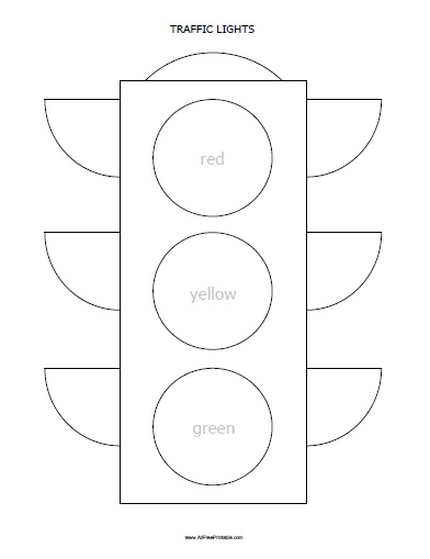Printable Light Worksheets : Traffic lights coloring page free printable