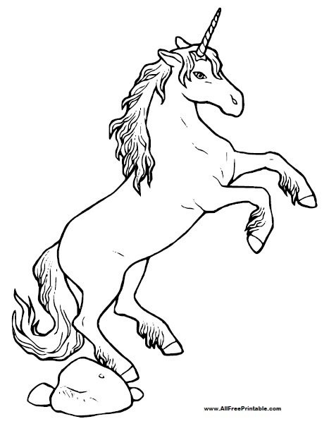 Unicorn Coloring Page Free Printable Allfreeprintable Com