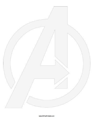 Free Printable Avengers Symbol Stencil