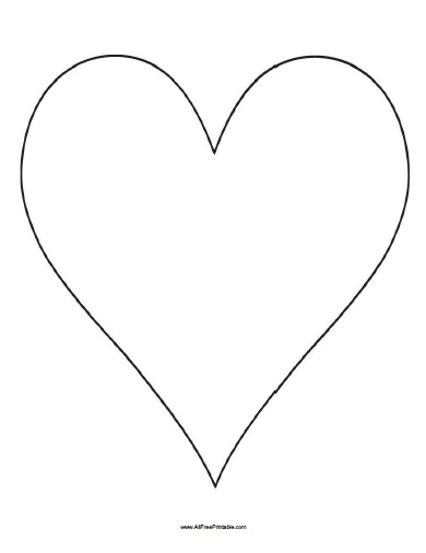 Free Printable Big Heart Template