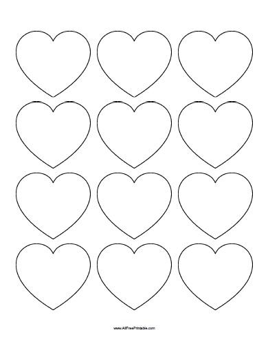 Free Printable Hearts Templates