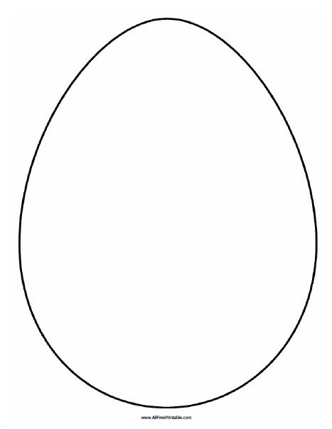Free Printable Large Egg Pattern