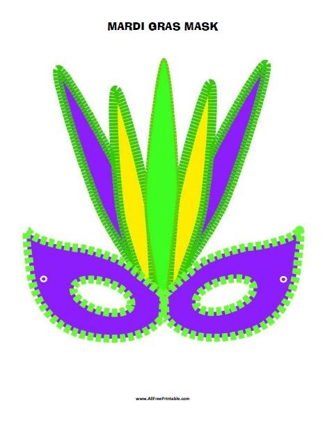 Free Printable Mardi Gras Mask