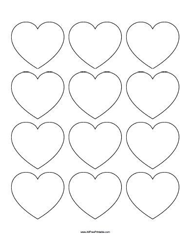 picture relating to Printable Hearts Templates identified as Lower Hearts Templates - Absolutely free Printable -