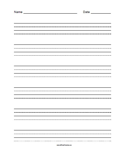 Free Printable Practice Handwriting Paper