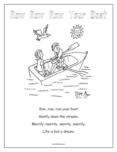 Free Printable Row Row Row Your Boat
