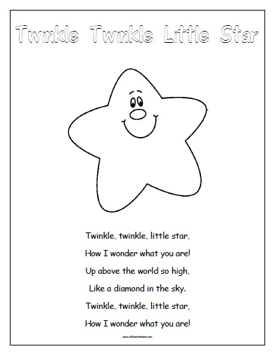Free Printable Twinkle Twinkle Little Star