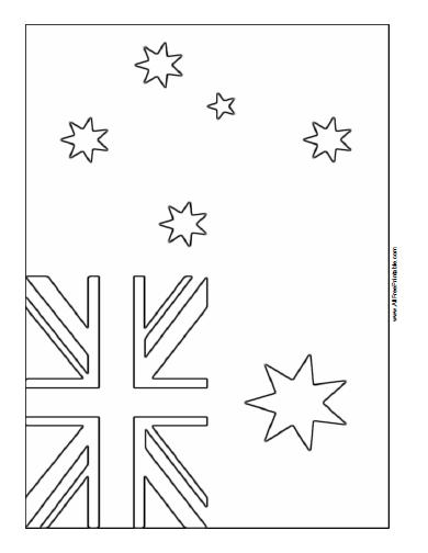 Free Printable Australia Flag Coloring Page