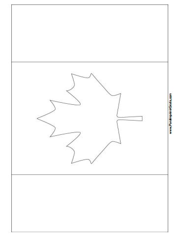 Free Printable Canada Flag Coloring Page