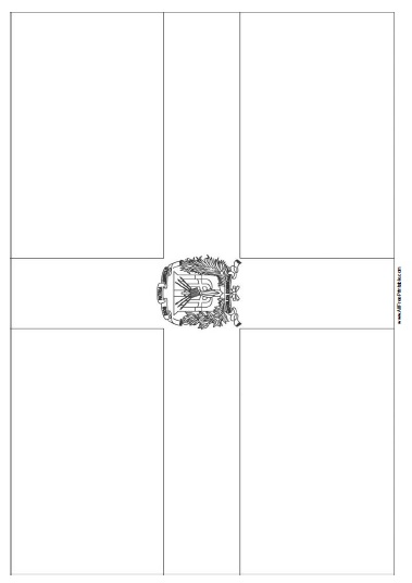 Free Printable Dominican Republic Flag Coloring Page