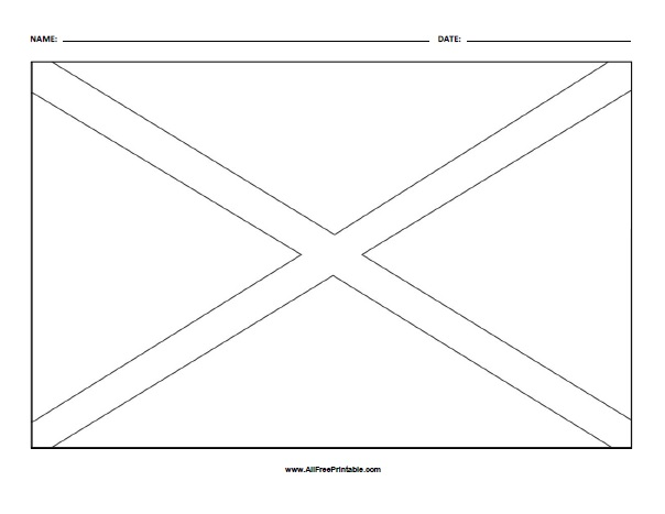 Free Printable Alabama State Flag Coloring Page