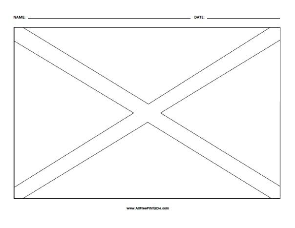 Free Printable Alabama State Flag Coloring Page