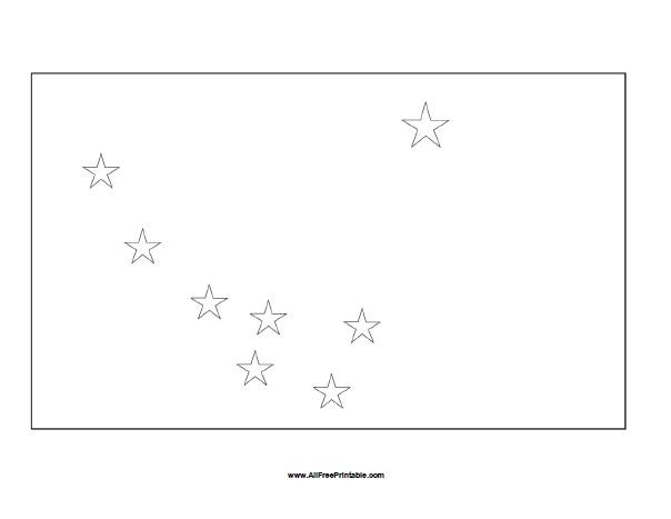 Free Printable Alaska Flag Coloring Page