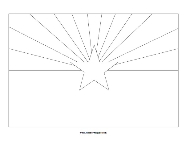 Free Printable Arizona Flag Coloring Page
