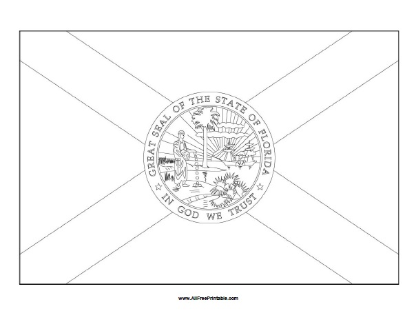 Free Printable Florida Flag Coloring Page