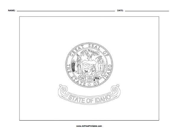 Free Printable Idaho State Flag Coloring Page