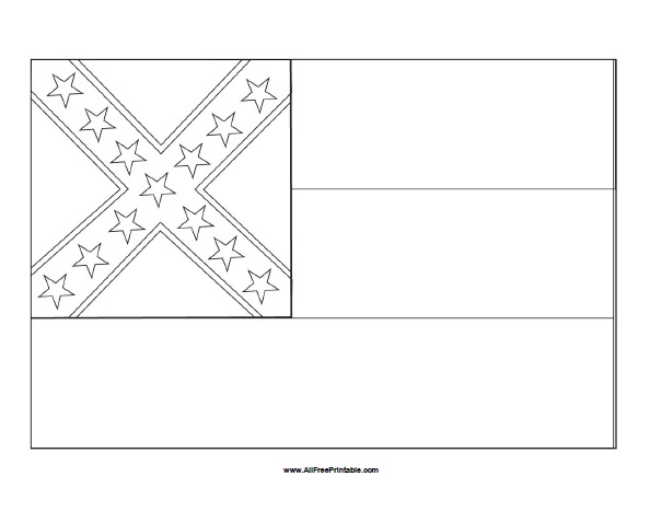 Free Printable Mississippi Flag Coloring Page