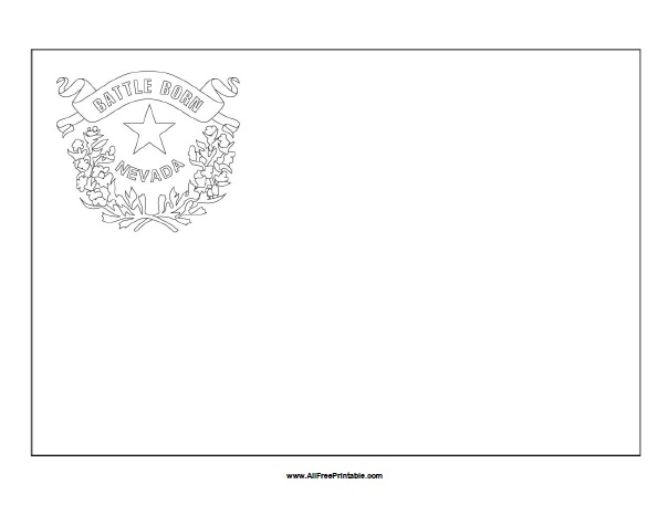 Free Printable Nevada Flag Coloring Page