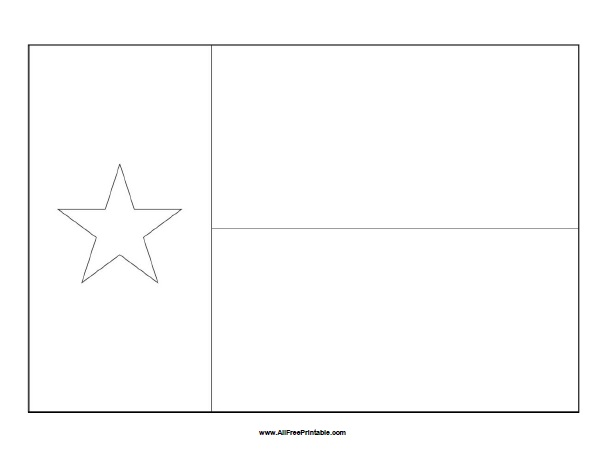 Free Printable Texas Flag Coloring Page