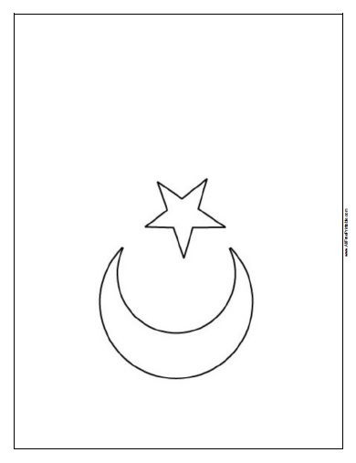 Turkey Flag Coloring Page - Free Printable - AllFreePrintable.com
