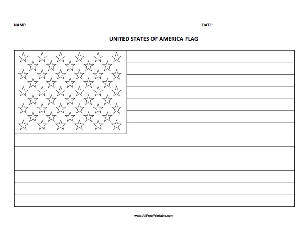 - US Flag Coloring Page - Free Printable - AllFreePrintable.com