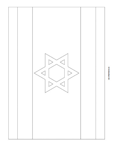 free printable israel flag coloring page
