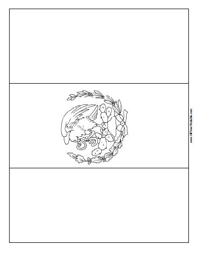 Free Printable Mexico Flag Coloring Page