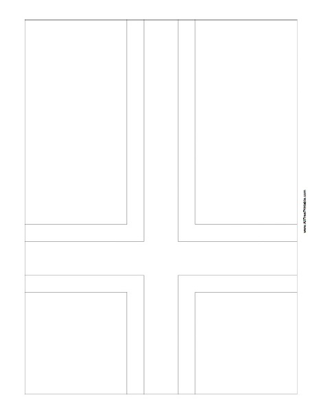Free Printable Norway Flag Coloring Page