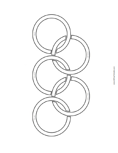 free printable olympic flag coloring page