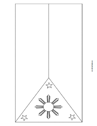 free printable philippines flag coloring page