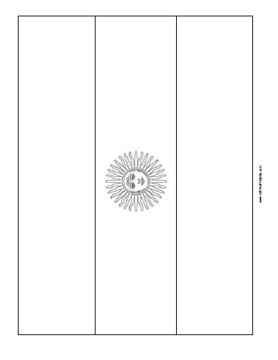 Free Printable Argentina Flag Coloring Page
